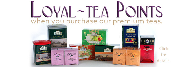 Loyal-tea Points on premium teas