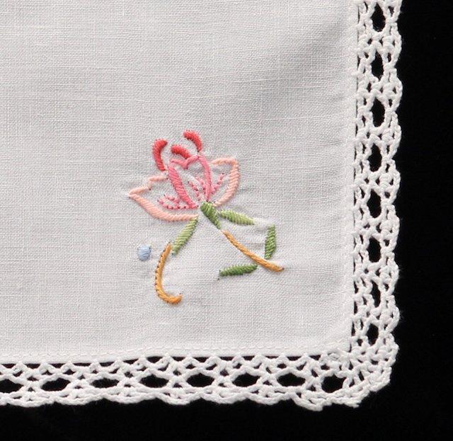 Clara Embroidered Tea Napkin