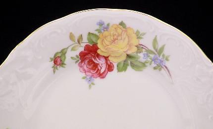 Rose Bouquet Fine China Tea Set - detail