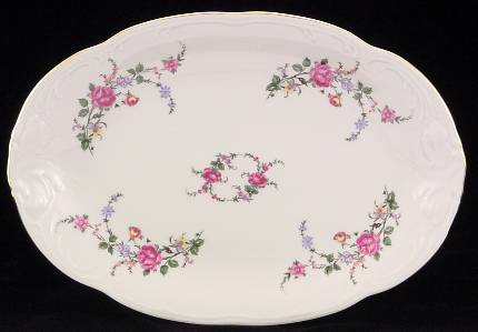 Rose Garden Fine China 48-piece Dinnerware Set - detail