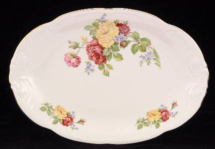 Rose Bouquet Fine China 48-piece Dinnerware Set - detail