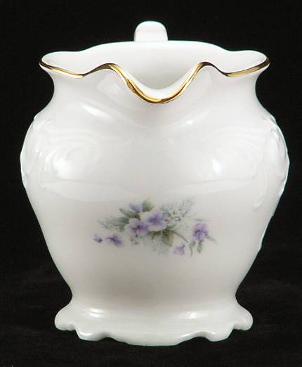 Violet Fine China Creamer - detail