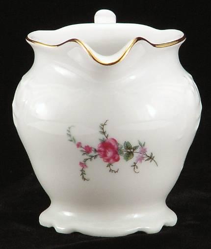 Rose Garden Fine China Creamer - detail