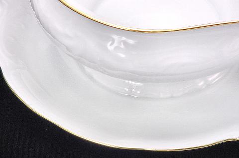 Elegance Fine China Gravy Boat - detail