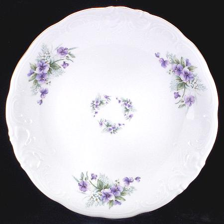 Violet Fine China Soup Tureen With Plate - detail