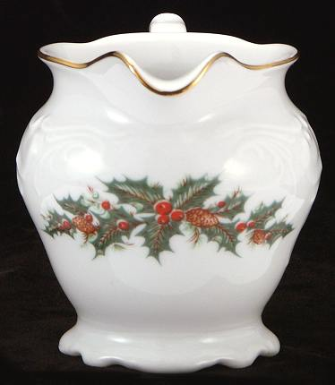 Christmas Berry Fine China Creamer - detail