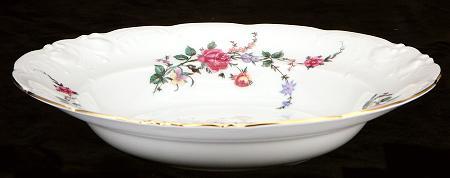 Rose Garden Fine China Rimmed Soup Bowl - detail