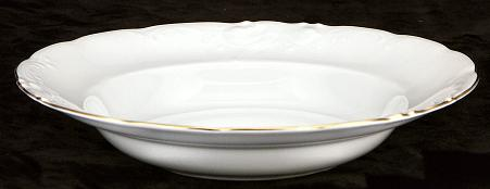 Elegance Fine China Rimmed Soup Bowl - detail