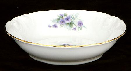 Violet Fine China Sauce Dish - detail