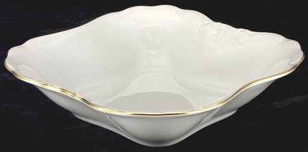 Elegance Fine China Square Serving Bowl - detail