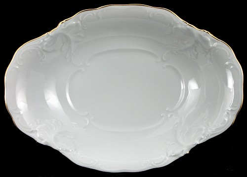 Elegance Fine China Footed Serving Bowl - detail