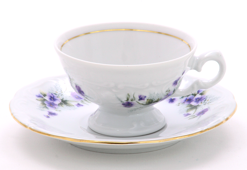 Violet Fine China Children's Teacup and Saucer