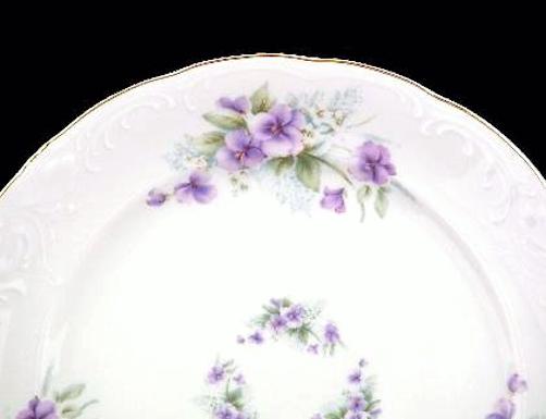 Violet Fine China Tea Set for Four