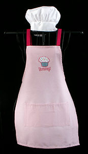 Yummy Cupcake Girl's Apron Set