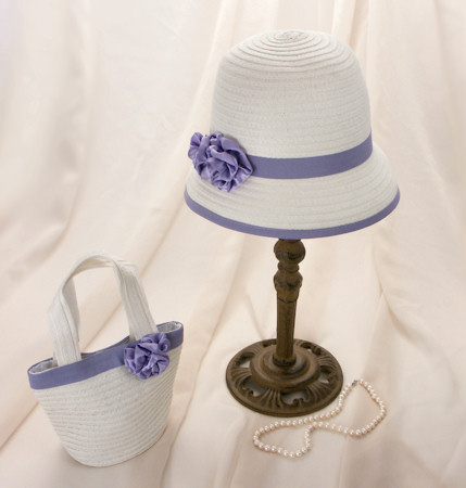 Purple Roses Girl&#039;s Hat and Purse Set
