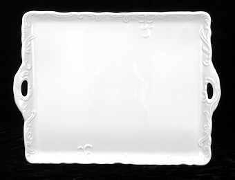 Rectangular White Porcelain Serving Tray
