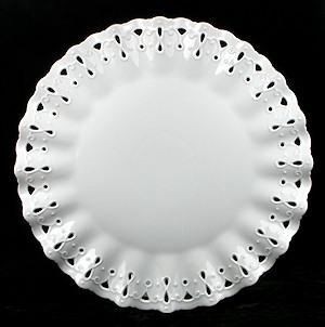 Ruffled White Porcelain Plate