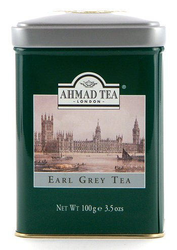 Ahmad Tea Earl Grey Loose Tea in English Tin - 100 g