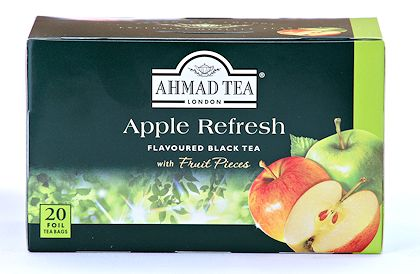Ahmad Tea Apple Refresh Tea - Box of 20 Tea Bags