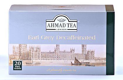 Ahmad Tea Decaffeinated Earl Grey Tea - Box of 20 Tea Bags