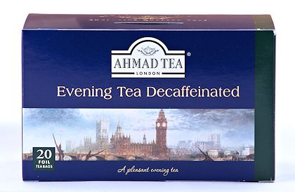 Ahmad Tea Decaffeinated Evening Tea - Box of 20 Tea Bags