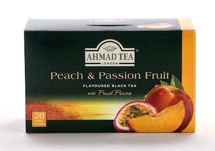 Ahmad Tea Peach and Passion Fruit - Box of 20 Tea Bags