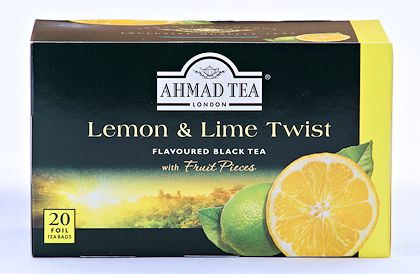 Ahmad Tea Lemon and Lime Tea - Box of 20 Tea Bags