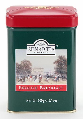 Ahmad Tea English Breakfast Loose Tea in English Tin - 100 g