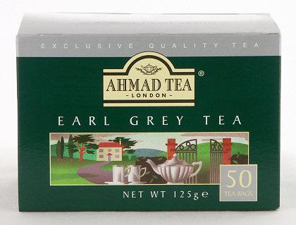 Ahmad Tea Earl Grey Tea - Box of 50 Tagless Tea Bags