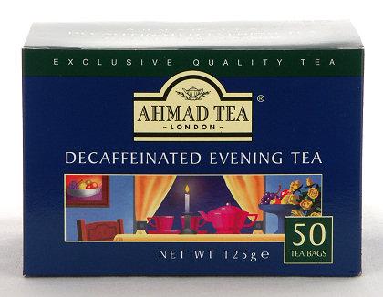 Ahmad Tea Decaffeinated Evening Tea - Box of 50 Tagless Tea Bags