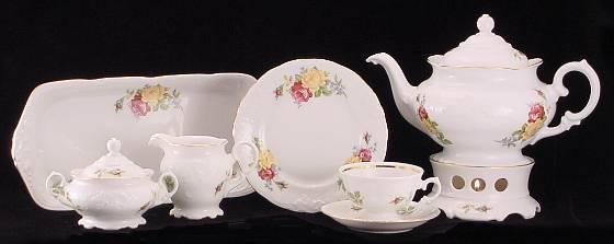 Rose Bouquet Fine China Tea Set