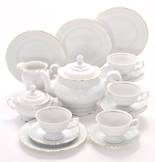 Elegance Fine China Tea Set for Four