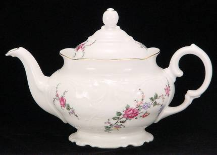 Rose Garden Fine China Teapot - Small