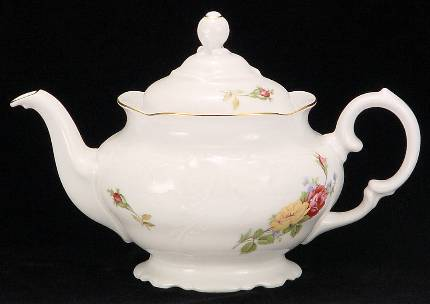Rose Bouquet Fine China Teapot - Small