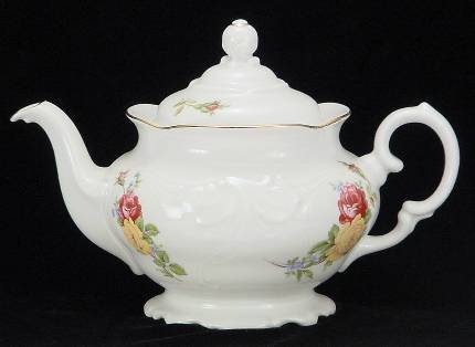 Rose Bouquet Fine China Teapot - Medium