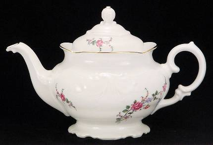 Rose Garden Fine China Teapot - Large