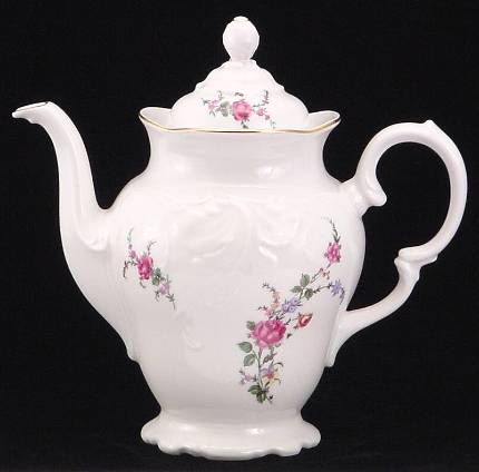 Rose Garden Fine China Coffee Pot