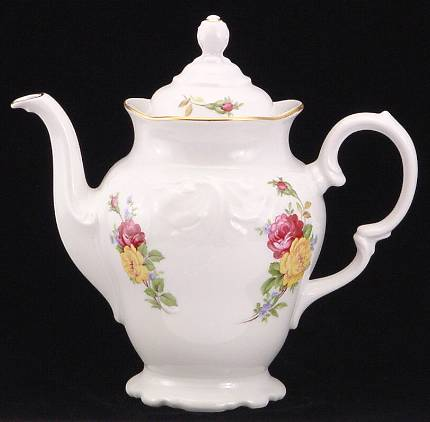 Rose Bouquet Fine China Coffee Pot