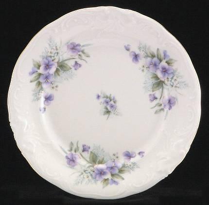 Violet Fine China Dessert Plate
