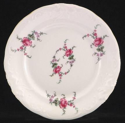 Rose Garden Fine China Dessert Plate
