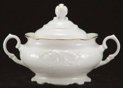 Elegance Fine China Covered Sugar Bowl