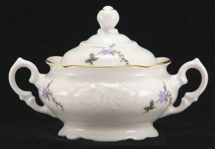 Rose Garden Fine China Covered Jam Jar