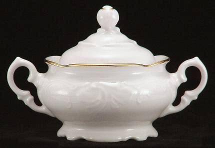 Elegance Fine China Covered Jam Jar