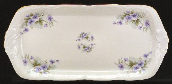Violet Fine China Sandwich Tray