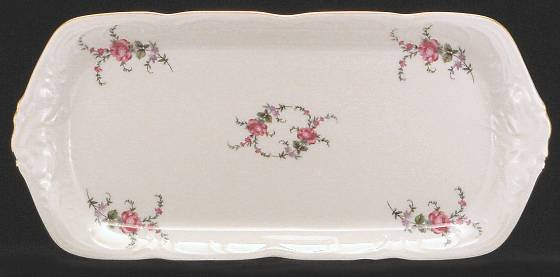 Rose Garden Fine China Sandwich Tray