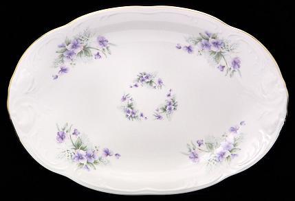 Violet Fine China Oval Platter