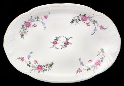 Rose Garden Fine China Oval Platter