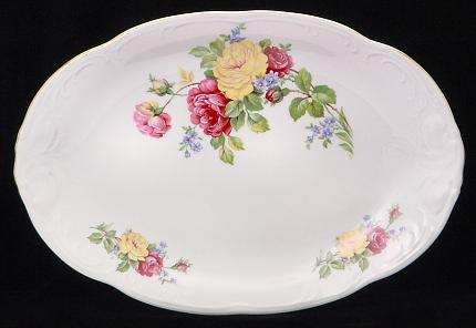 Rose Bouquet Fine China Oval Platter