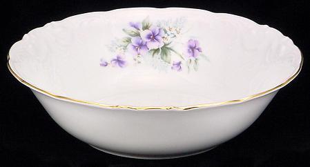 Violet Fine China Serving Bowl