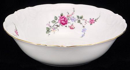 Rose Garden Fine China Serving Bowl